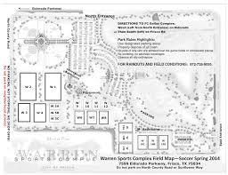 Frisco Texas Map Warren Field Frisco