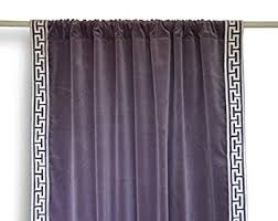 Plum Velvet Curtains Amore Beaute Handmade Velvet Curtains With Greek Key Embroidery