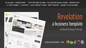 revelation elegant and minimal business template website