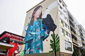say hello to atlanta s latest batch of eye popping street murals a fresh multi story mural by spanish artist sabek photos jonathan philips curbed atlanta
