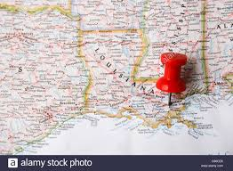Map New Orleans by Red Pin On Map Of Usa Pointing At New Orleans Louisiana Stock