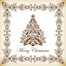 vintage christmas tree vector illustration free vector graphics