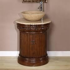 high quality 24 bathroom vanity cabinet with pedestal vessel sink