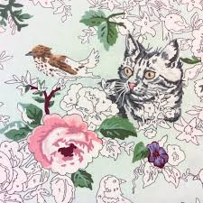 moda paint by number kitty cat watercolor bird nature rose flower