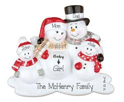 family of 4 my personalized ornaments