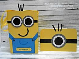 minion gift bags make this adorable minion gift bag and pop up card stin with
