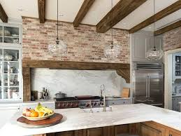 wallpaper ideas for kitchen brick wall kitchen via clever i could use wallpaper ideas best on