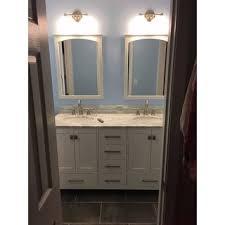 60 Double Sink Bathroom Vanity Reviews Stufurhome 60 Inch Malibu Pure White Double Sink Bathroom Vanity