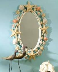 Bathroom Mirror Decorating Ideas Seashell Mirror Bathroom Mirrors Display Seashells Crafts