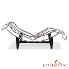 le corbusier la chaise chair lc4 chaise lounge white leather