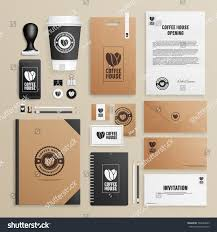 corporate identity mock coffee house shop stock vector 348263093