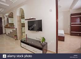 Wohnzimmer Lounge Bar Open Plan Kitchen Breakfast Bar Stockfotos U0026 Open Plan Kitchen