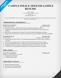 Military Police Officer Resume Sample by Police Resume Campus Police Officer Resume Sample Law