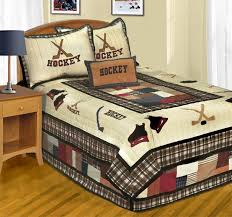 Love This Hockey Bedding For Christophers Room In My Dream - Boys hockey bedroom ideas