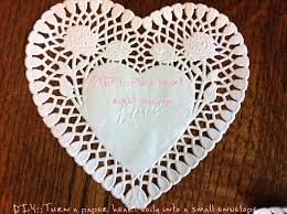 heart doily diy heart doily crafts turn a heart into an envelope