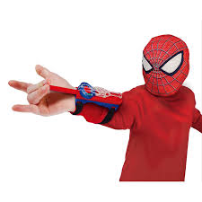 amazon com the amazing spider man stretchy web shooter and mask