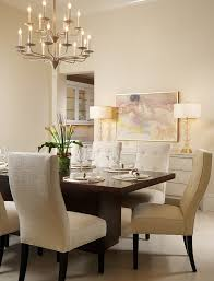 Dining Room Table Lamps - buffet beige dining room transitional with candle chandelier table