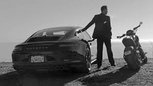Porsche 911 Black - driving his own matrix