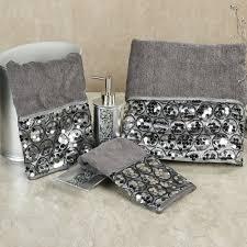 bathroom decors black white mosaic tile wood floor corner teenager