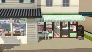 Sims 3 Awning Stars Hollow Luke U0027s Diner Taylor Soda Shoppe Completed