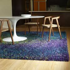 Purple Shag Area Rugs This Peacock Colored Shag Area Rug Contains Purple Blue And Lime