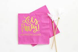 personalized birthday napkins lets party beverage napkins custom