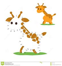 dot to dot giraffe game stock vector image 59846280