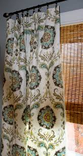 turquoise yellow grey brown and white medallion curtain panel