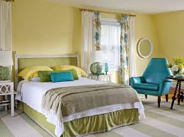 Blue And Yellow Bedroom by Bedroom Colorful Yellow Bedroom Ideas White Stone Wall And Built