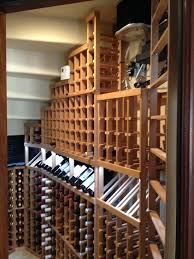 Wine Cellar Shelves - installation project wine cellar cooling unit for a residential