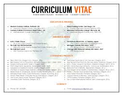 Curriculum Vitae Resume Definition by Unique Cv Resume Design To Resemble A Restaurant Menu Format