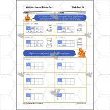 multiplication and division facts the grid method planbee