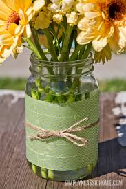 Mason Jar Vases Easy Diy Washi Tape Mason Jar Vase U0026 A Spring Linky Party