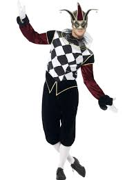 men u0027s venetian harlequin costume joker halloween jester fancy