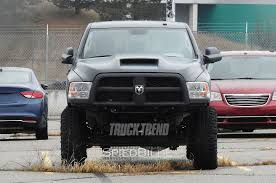700 hp jeep hellcat ram heavy duty spied with massive hood scoop hellcat power wagon