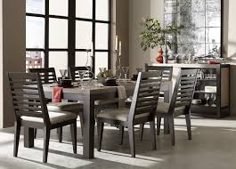 legacy classic helix 7 piece rectangular leg dining set in