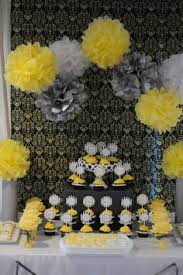 yellow and gray baby shower gray and yellow baby shower decorating ideas via tonya of