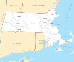 Massachusetts Map Massachusetts Maps Political Physical Cities And Blank Outline