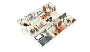 3d Office Floor Plan 3d Small House Plans Morpheus Green Sector 78 Noida 3 Bedroom
