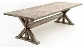 Rustic Trestle Dining Table Foter - Trestle kitchen tables
