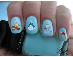 christmas time cinderella disney princess nail art water transfer