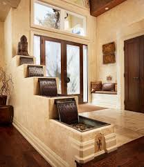 indoor waterfall designs with redwood table deck craftsman and san