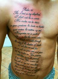 psalm 23 free 14463 rich royalty custom tattoos
