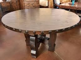 dining room tables phoenix az rustic knotty alder wood round dining table with clavos custom