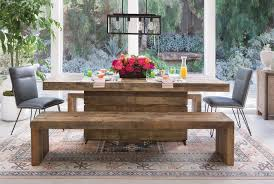 tahoe ii 89 inch dining table living spaces