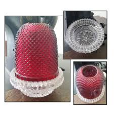 Home Interior Votive Cups Vintage Ruby Red Glass Fairy Lamp Or Candle Holder Votive Candle