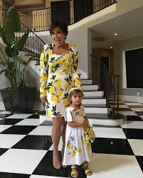 Kris Jenner Kitchen by Penelope Disick Out Slays Grandma Kris Jenner In Matching Lemon