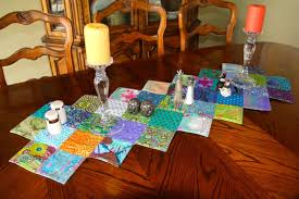 zig zag table runner zig zag table runner and placemats