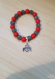 Osu Umbrellas by Ohio State Buckeyes Osu Ruby And Porpoise Bracelet