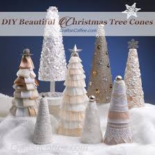 Styrofoam Christmas Decorations - diy a white christmas flower cone and a new giveaway crafts